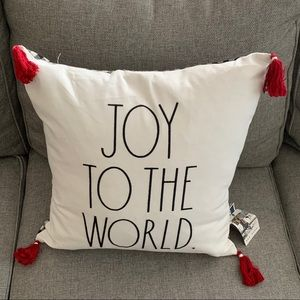 Rae Dunn joy to the world pillow